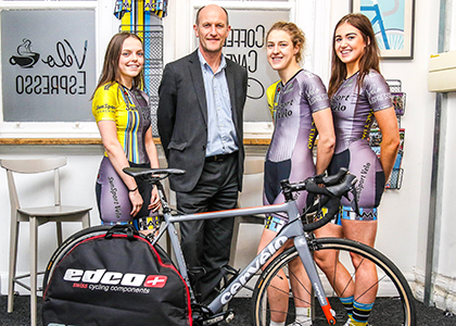 Chris-Bishop,-managing-partner-of-Slater-Heelis,-with-Sun-Sport-Velo-women's-cycle-team