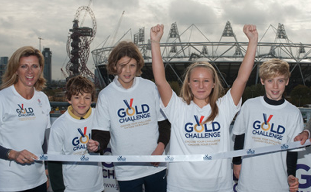 Gold challenge - your chance to run in the Olympic Stadium