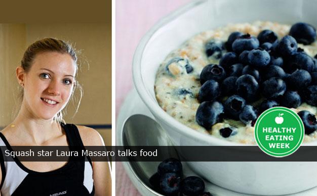 Squash star Laura Massaro talks food