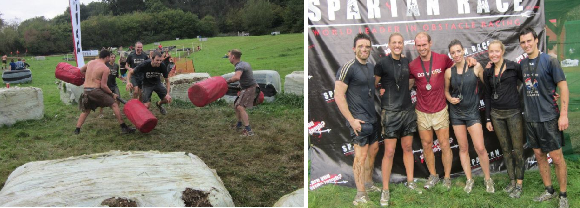 Taking on the Gladiators        The mighty Spartan team - Aroo!