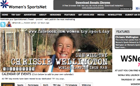WSNet launches women's sport TV listings service